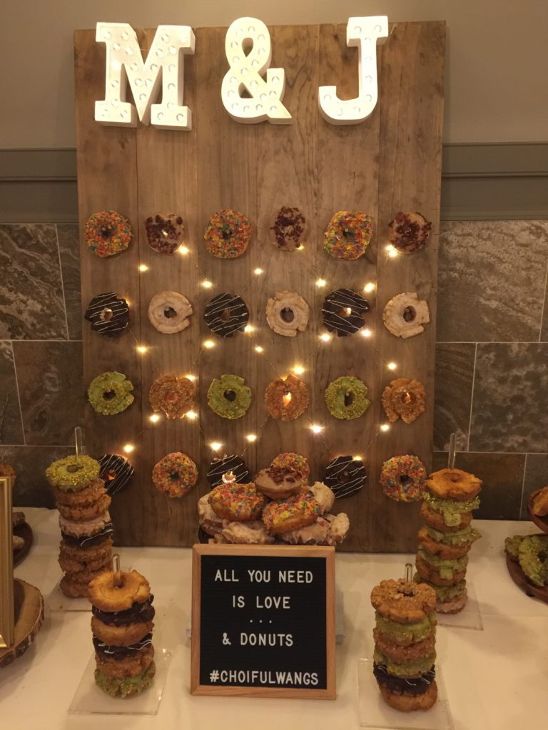 Wedding Easy DIY Donut Wall