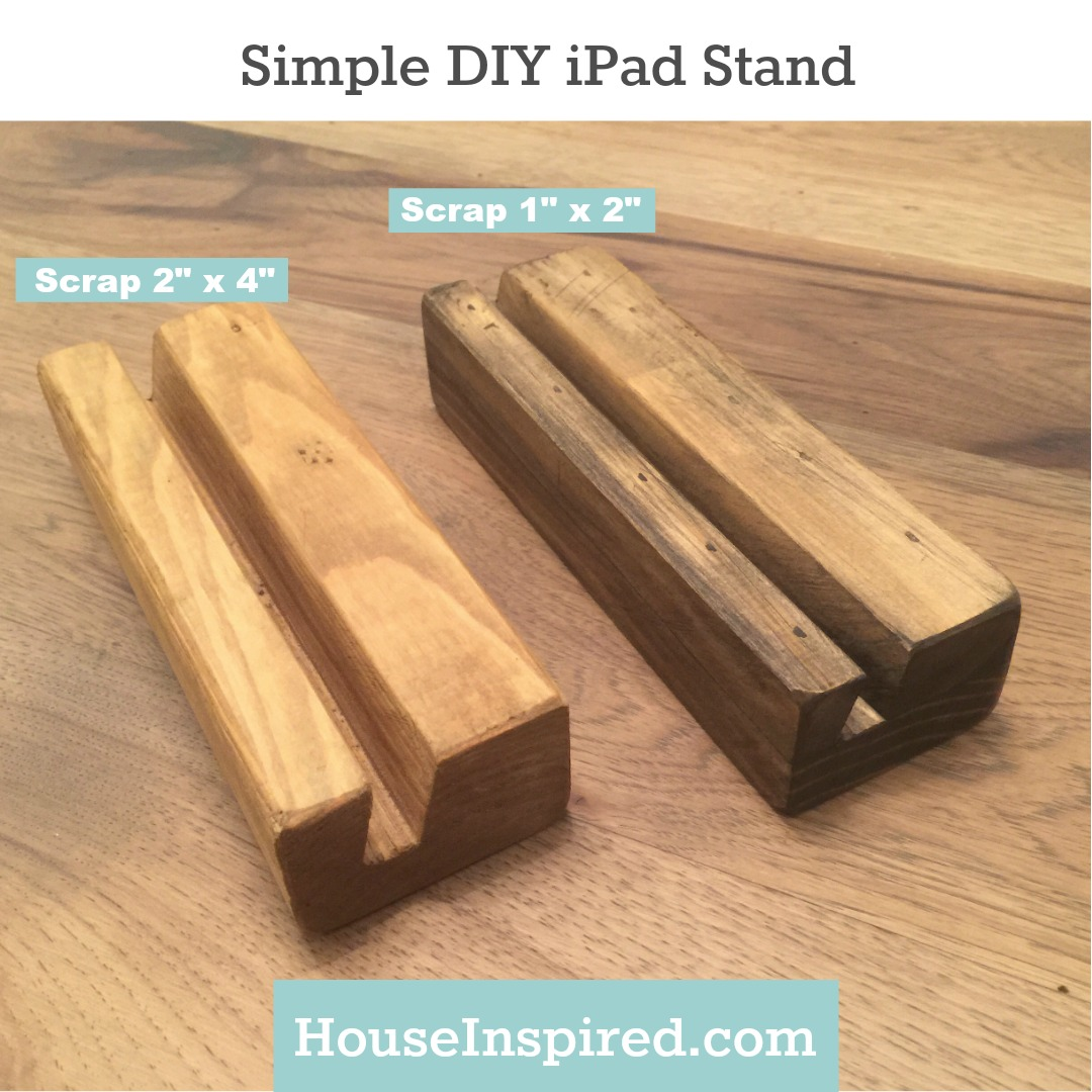 simple diy ipad stand house inspired. Black Bedroom Furniture Sets. Home Design Ideas